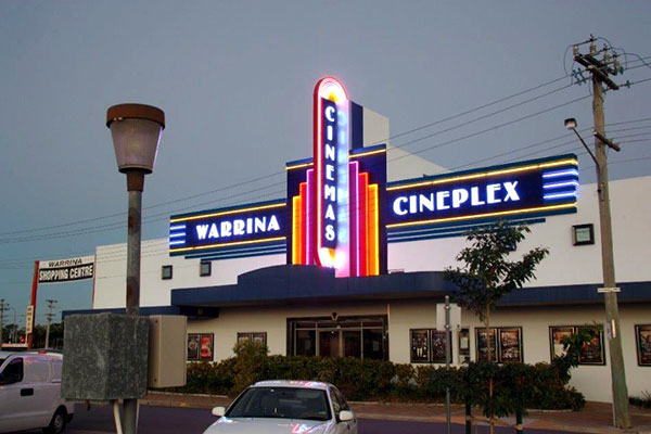 Warrina Cineplex Cinema Neon Signage